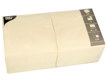 Servett 40x40cm 3-lags creme 250st/fp