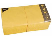 Servett 40x40cm 3-lags gul 250st/fp