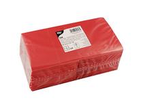 Servett 25x25cm 3-lag röd 250st/fp