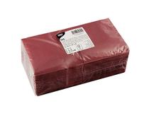 Servett 25x25cm 3-lag vinröd 250st/fp