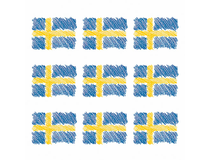 Servett 33x33 3-lag Svenska flaggan 15x20st/fp