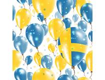 Servett 33x33 3-lag Heja Sverige 15x20st/fp