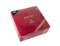 Servett Premium 40x40cm 1/8-vikt vinröd 5x50st/fp