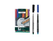 OH-penna/märkpenna Faber Castell Multimark V F blå 10st/fp