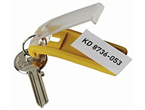 Nyckelhållare Durable 70x25mm gul 6st/fp