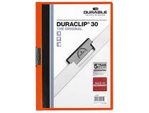 Klämmapp A4 Durable 2200 orange 25st/fp