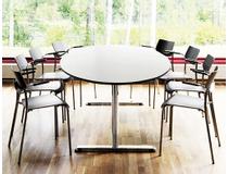 Konferensbord 240x120 vit/silver