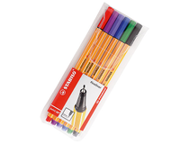 Fiberpenna Stabilo 88 0,4mm 6-pack