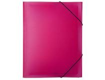Snoddmapp PP A4 rosa/transparent