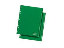 Register plast A4 1-52 grön
