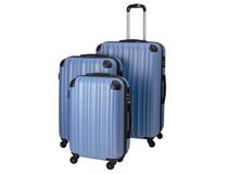 Resväskor set 3 strl Timing Globetrotter blå