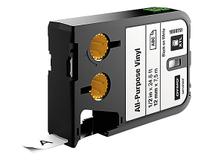 Märkband flerfunktionsvinyl Dymo XTL 12mm svart/vit