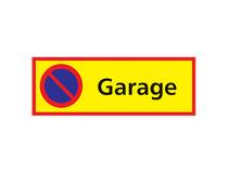 Parkeringssylt Garage 590x210mm aluminium