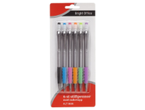 Stiftpenna 0,7mm 6-pack