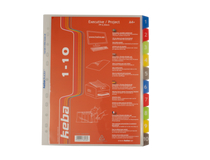Pärmregister plast Keba A4+ 1-10