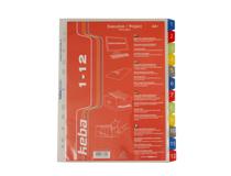 Pärmregister plast Keba A4+ 1-12