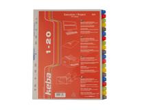 Pärmregister plast Keba A4+ 1-20