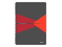 Anteckningsbok Leitz Office A4 rutad röd 5st/fp