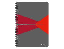 Anteckningsbok Leitz Office A5 linjerad röd 5st/fp