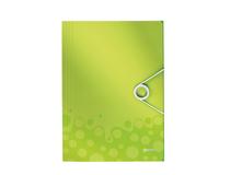 Snoddmapp Leitz WOW 3-klaff grön