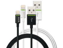 Lightning-kabel Leitz Complete 0,3m svart
