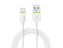 Kabel Leitz Complete USB-C till USB-A 3.1 1m vit