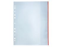 Signalficka Bantex A4 PP 0,14 röd glasklar 100st/fp