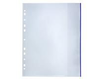 Signalficka Bantex A4 PP 0,14 blå glasklar 100st/fp