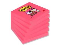 Post-it SS kub 76x76mm Poppy röd 6st/fp