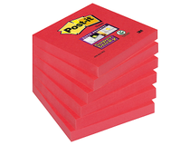 Post-it SS kub 76x76mm Poppy röd 6st/fp