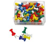 Kartnålar Push pins gul 30st/fp