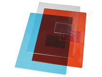 Mapp A4 PVC 0,18mm röd