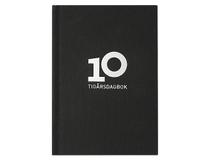 10-årsdagbok linnetextil A5 svart