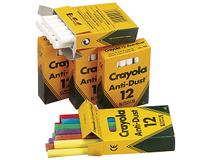 Tavelkrita Crayola blandade färger 12st/fp