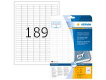 Etikett avtagbar Herma Special 25,4x10mm 4725st/fp