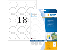 Etikett avtagbar Herma Special oval 63,5x42,3mm 450st/fp