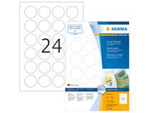 Etikett avtagbar Herma Special Ø 40mm 2400st/fp