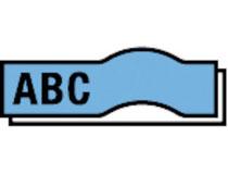 Märkband Dymo D1 9mm svart/blå