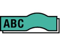 Märkband Dymo D1 9mm svart/grön