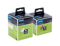 Etikett Dymo LW papper 89x28 färgade 4x130st/fp