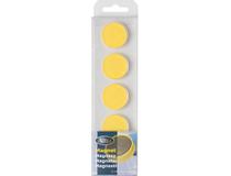 Magnet rund 30mm gul 5st/fp