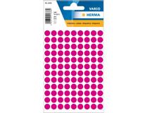 Etiketter 8mm rund rosa 540st/fp