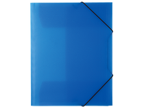 Snoddmapp Docusmart A4 3-klaff PP blå 5st/fp