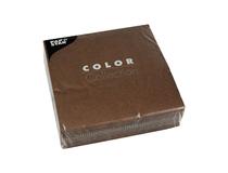 Servett 33x33 3-lag brun 50st/fp