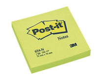 Post-it 654 76x76 neongrön 6st/fp
