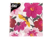 Servett 33x33 3-lag Blomster 20st/fp