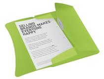 Snoddmapp Vivida A4 3-klaff PP grön