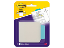 Märkflik Post-It Index Tabs 85,7x69,8 blå 10st/fp