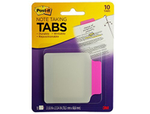 Märkflik Post-It Index Tabs 85,7x69,8mm rosa 10st/fp