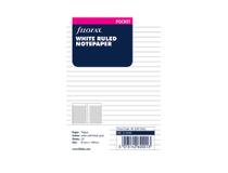 Filofax Pocket anteckningsblad linjerad vit 30st/fp